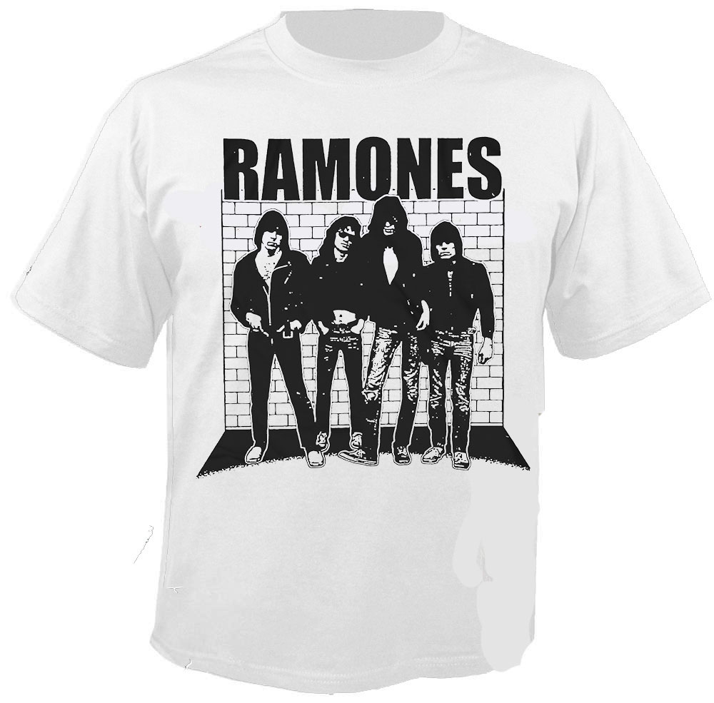A fan favorite has become the Ramones Road to Ruin t-shirt, which is the fourth studio album released by the Ramones and which featured the hit 'I wanna be sedated.' The classic, 'Blitzkrieg Bop', featuring the famous phrase 'Hey Ho, Let's Go', is also featured on a number of different Ramones items and is recognized by fans.