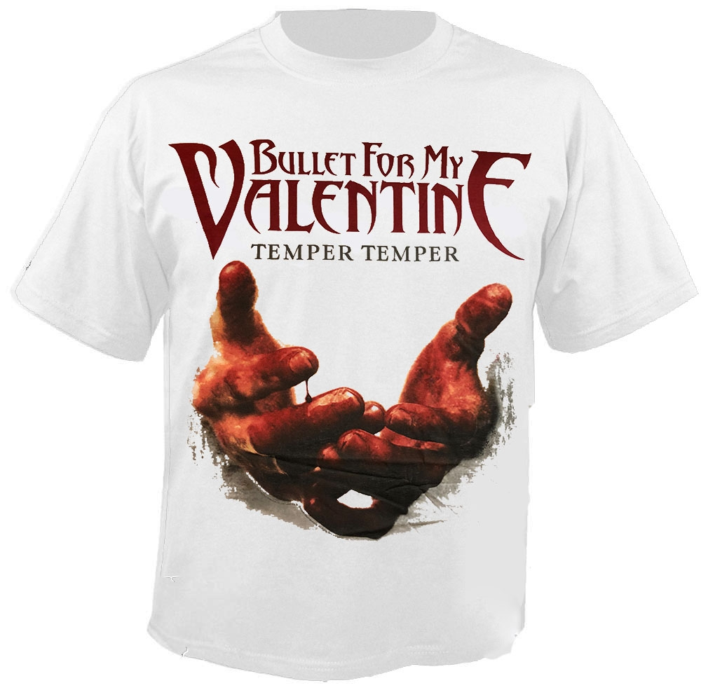 Bullet For My Valentine Blood Hands White T Shirt