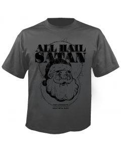 Fuck you Christmas - All Hail Satan - Charcoal - T-Shirt