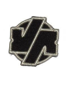 VÖLKERBALL - Silver Logo - gestickt - Patch / Aufnäher