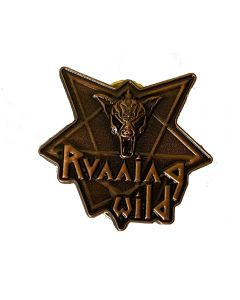 RUNNING WILD - Pentagram - Logo - 3D Metal Pin / Button