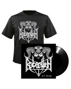 "REBAELLIUN - At War - Bundle - T-Shirt plus 7"" EP (Black)"