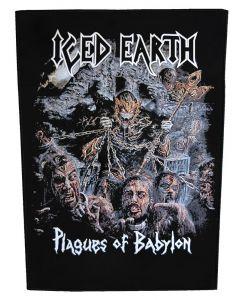 ICED EARTH - Plagues of Babylon - Backpatch / Rückenaufnäher