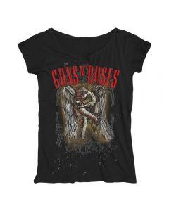 GUNS N ROSES - Sketched Cherub - Loose Fit - GIRLIE - Shirt