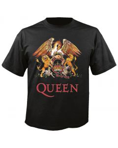 QUEEN - Classic Crest - Black - T-Shirt