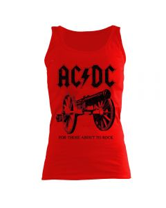 AC/DC - For Those About To Rock - Red - GIRLIE - Tank Top