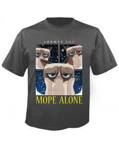 GRUMPY CAT - Mope Alone - Charcoal - T-Shirt