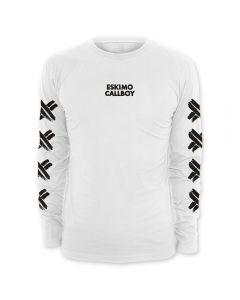 ESKIMO CALLBOY - Scratched X - White - Langarm - Shirt / Longsleeve