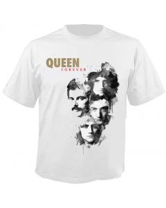 QUEEN - Faces - Cover - White - T-Shirt
