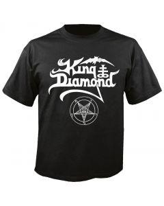 KING DIAMOND - White Logo - T-Shirt