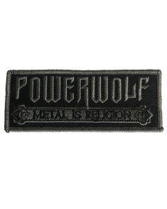 POWERWOLF - Logo - Metal is Religion - gestickt - Patch / Aufnäher