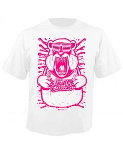 ESKIMO CALLBOY - Pink Cool Bear - White - T-Shirt