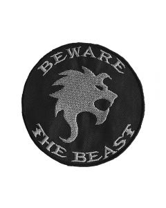 BEAST IN BLACK - Beware the Beast - embroidered - Circular - Patch / Aufnäher