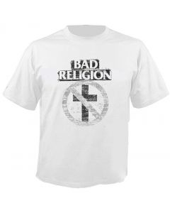 BAD RELIGION - Typewriter - Cross Buster - White - T-Shirt