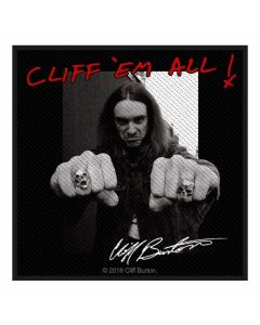 METALLICA - Cliff Burton - Cliff em All - Patch / Aufnäher