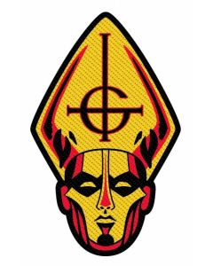 GHOST - Papa Head - Cut Out - Patch / Aufnäher