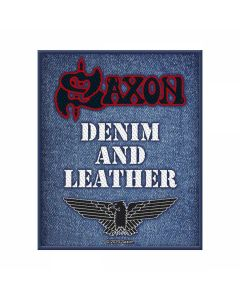 SAXON - Denim and Leather - Patch / Aufnäher