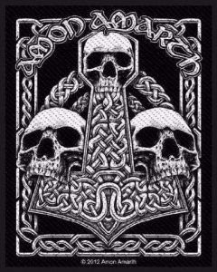 AMON AMARTH - Three Skulls - Patch / Aufnäher