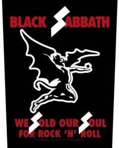 BLACK SABBATH - We Sold our Souls - Backpatch / Rückenaufnäher
