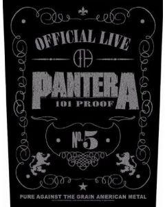 PANTERA - 101% Proof - Backpatch / Rückenaufnäher
