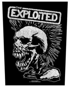THE EXPLOITED - Vintage Skull - Backpatch / Rückenaufnäher