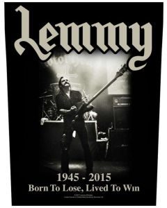MOTÖRHEAD - Lemmy - Lived To Win - Backpatch / Rückenaufnäher