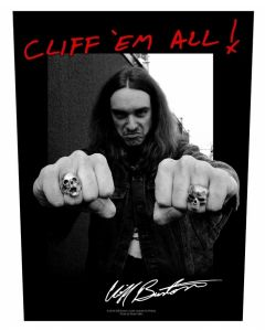 METALLICA - Cliff Burton - Cliff em All - Backpatch / Rückenaufnäher