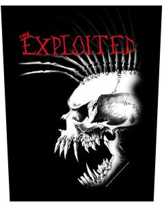 THE EXPLOITED - Bastard Skull - Backpatch / Rückenaufnäher