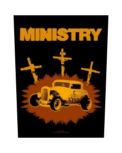 MINISTRY - Jesus Built My Hotrod - Backpatch / Rückenaufnäher
