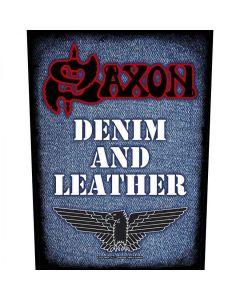 SAXON - Denim and Leather - Backpatch / Rückenaufnäher