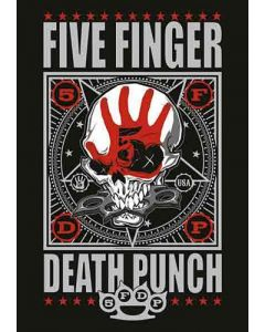 FIVE FINGER DEATH PUNCH - Bonehead - Posterflag / Posterfahne
