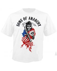 SONS OF ANARCHY - Reaper Logo - White - T-Shirt