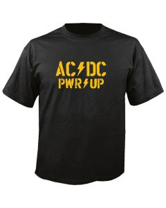 AC/DC - PWR-UP - Power Up - Yellow Logo - T-Shirt