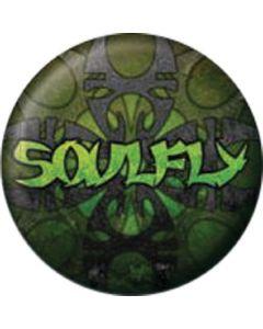 SOULFLY - Logo - Green - Button