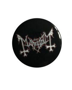 MAYHEM - Logo - White - Button / Anstecker