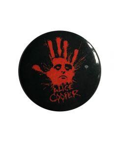 ALICE COOPER - Splatter Hand - Button / Anstecker