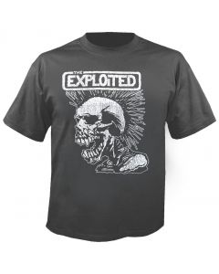 THE EXPLOITED - Vintage Skull - Charcoal - T-Shirt