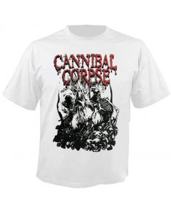 CANNIBAL CORPSE - Pile of Skulls - White - T-Shirt