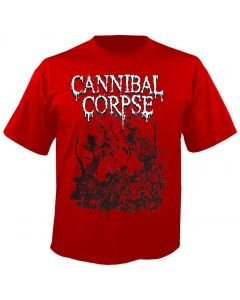 CANNIBAL CORPSE - Pile of Skulls - Red - T-Shirt