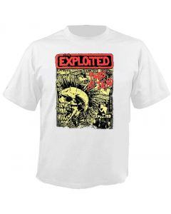 THE EXPLOITED - Mohawk Skull - White - T-Shirt