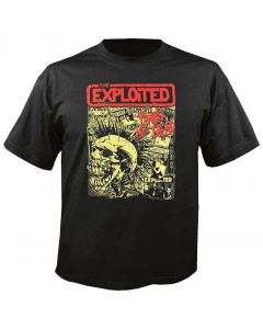 THE EXPLOITED - Mohawk Skull - Black - T-Shirt