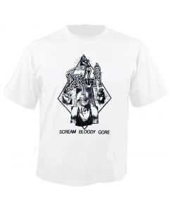 DEATH - Three Monkeys - Scream Bloody Gore - White - T-Shirt
