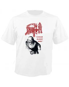 DEATH - On Throne - Scream Bloody Gore - Vintage - White - T-Shirt