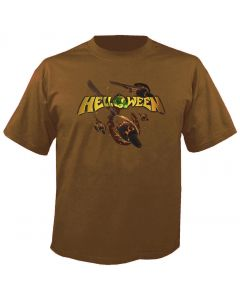 HELLOWEEN - Straight out of hell - Cover - Brown - T-Shirt