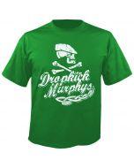 DROPKICK MURPHYS - Scally Skull Ship - Green - T-Shirt