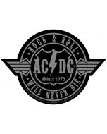 AC/DC - Rock n Roll will never Die - Cut out - Patch / Aufnäher