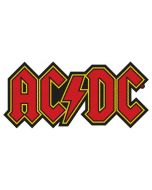 AC/DC - Red Logo - Cut Out - Patch / Aufnäher
