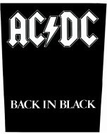 AC/DC - Back in Black - Backpatch / Rückenaufnäher