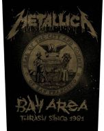 METALLICA - Bay Area Thrash - Backpatch / Rückenaufnäher