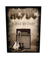 AC/DC - In Rock We Trust - Backpatch / Rückenaufnäher